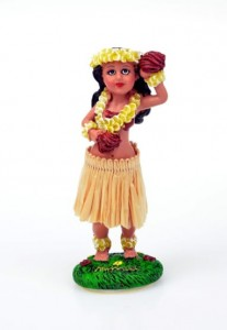 HULA DOLL GIRL IN FLOWERS nr 740